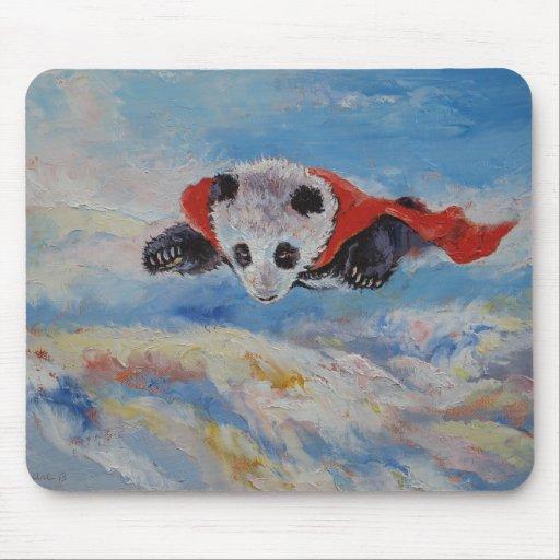 Panda Superhero Mousepads