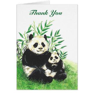Panda Thank-You card