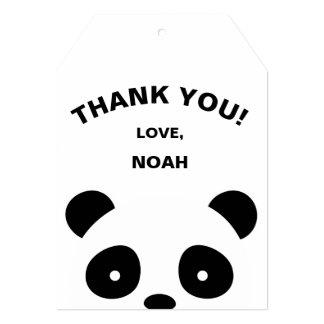 Panda thank you tags, Favor tags Card