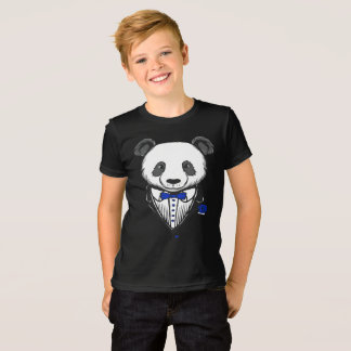 Panda Tuxedo T-Shirt With Blue Bow Tie
