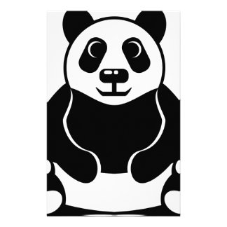 Panda vector custom stationery