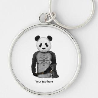 Panda Viking Helm Of Awe Key Ring