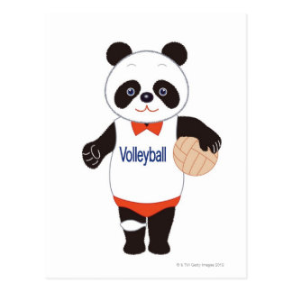 Panda Volleyball Player Postcard