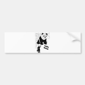 Panda Watch Bumper Sticker