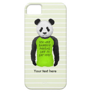 Panda Wearing A Funny T-shirt Barely There iPhone 5 Case