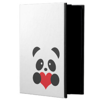Panda with a heart iPad case