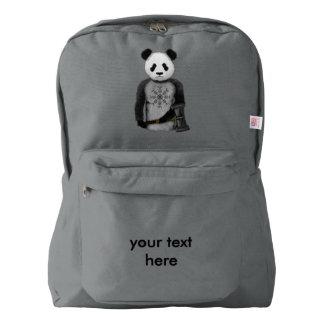 Panda With A Viking War Hammer Backpack