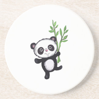 PANDA WITH BAMBOO COASTER