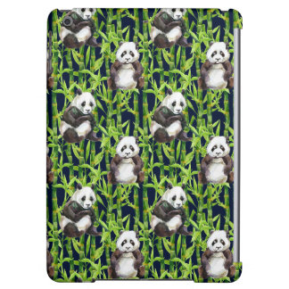 Panda With Bamboo Watercolor Pattern