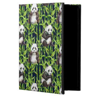 Panda With Bamboo Watercolor Pattern iPad Air Case