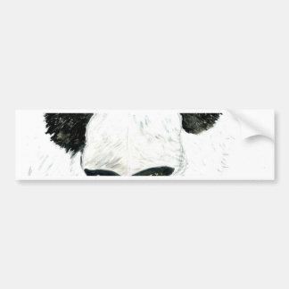 Panda with Flowers Bumper Sticker