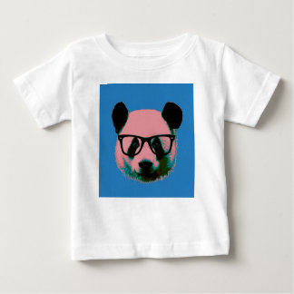 Panda with glasses in blue baby T-Shirt