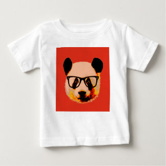 Panda with glasses in red baby T-Shirt