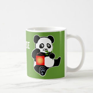 Panda with lantern coffee mug