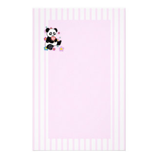 Panda with lollipop personalised stationery
