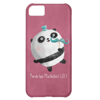 Panda with Mustaches iPhone 5C Covers
