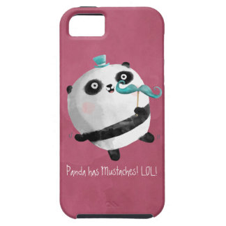 Panda with Mustaches iPhone 5 Covers