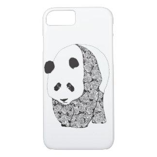 Panda With Roses Tattoo Illustration iPhone 7 Case