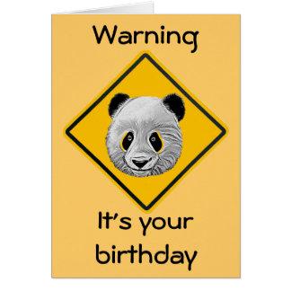 Panda Yourself Cartoon Sketch Birthday Card