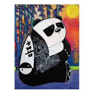 Panda Zen Master Postcard