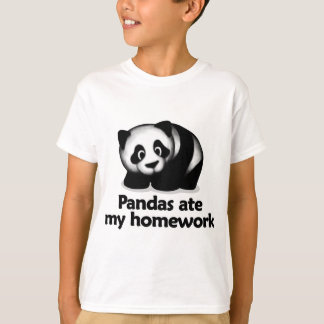 Pandas ate my homework t shirt