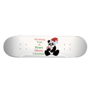 Pandas Beary Merry Christmas Skateboards