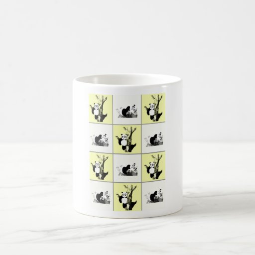 Pandas Checker - Yellow Coffee Mug