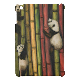 Pandas Climbing Bamboo iPad Mini Cases