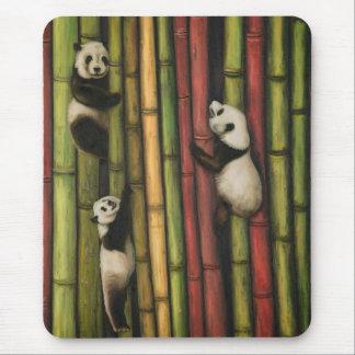 Pandas Climbing Bamboo Mouse Pad