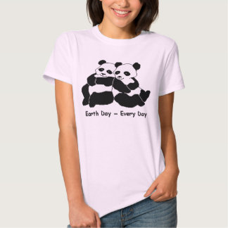 Pandas: Earth Day Every Day Tee Shirt