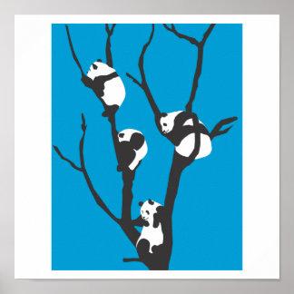Pandas Hangin' Out Poster
