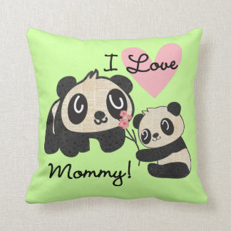 Pandas I Love Mommy Cushion