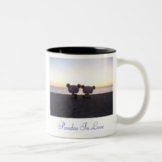 Pandas In Love Two-Tone Coffee Mug