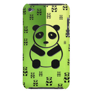 Pandas on forest green background Case-Mate iPod touch case