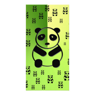 Pandas on green background personalised photo card