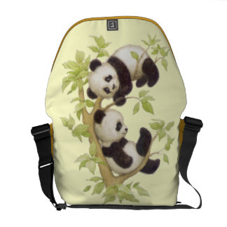 Panda's Playing in a Tree Commuter Bags
