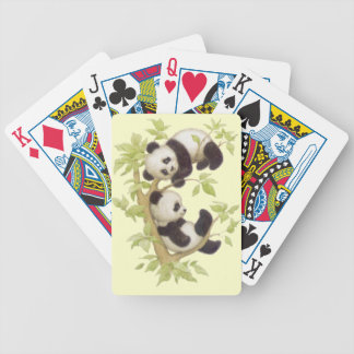 Panda's Playing in a Tree Playing Cards