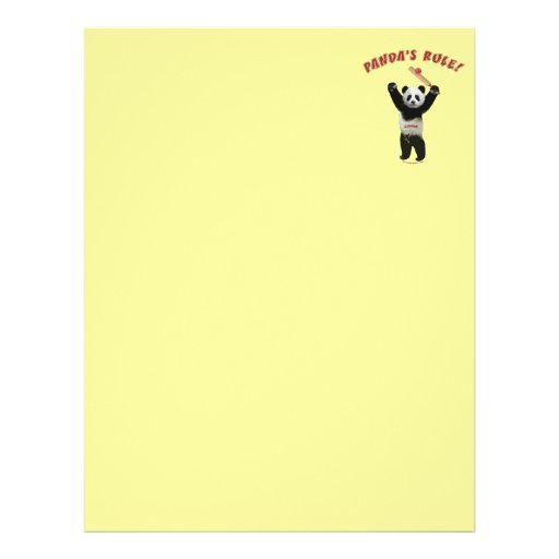 Pandas Rule Cricket Full Color Flyer