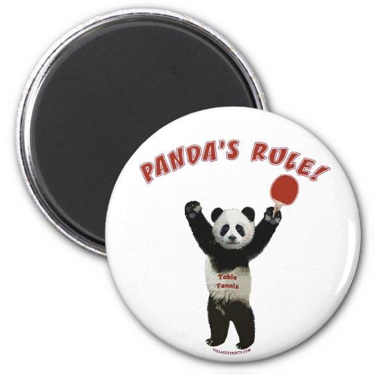 Panda's Rule Ping Pong Magnet