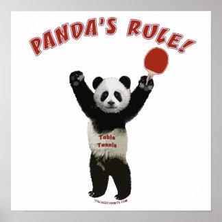 Panda's Rule Ping Pong Posters