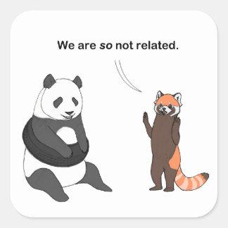 Pandas: So Not Related Sticker