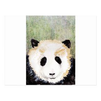 Pandas Watercolour Painting Postcard