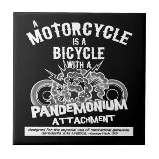 Pandemonium Attachment -bw Ceramic Tile