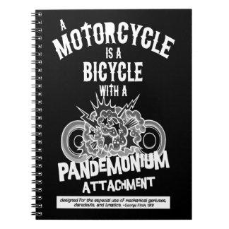 Pandemonium Attachment -bw Notebook