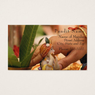Pandit Contact Card (Temple Location & Services)