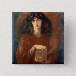 Pandora, 1871 (oil on canvas) 15 cm square badge