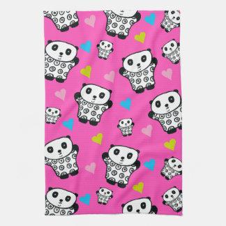Pandy the Panda Bright Hearts Tea Towel