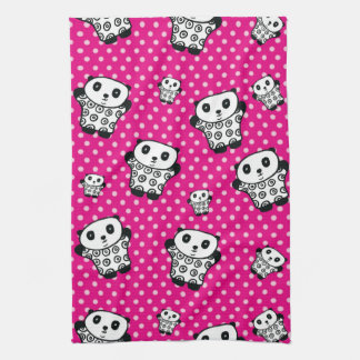 Pandy the Panda Polka Dot Tea Towel
