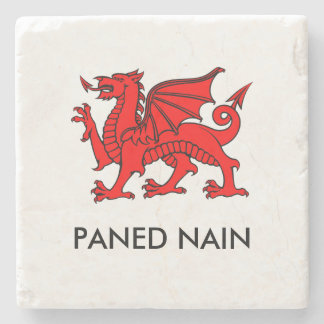 Paned Nain - Grandma's Cuppa North Welsh Coaster Stone Coaster
