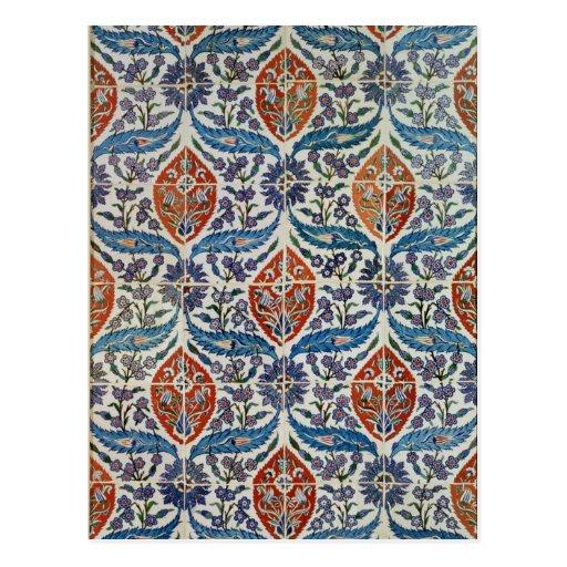 Panel of Isnik earthenware tiles Post Cards